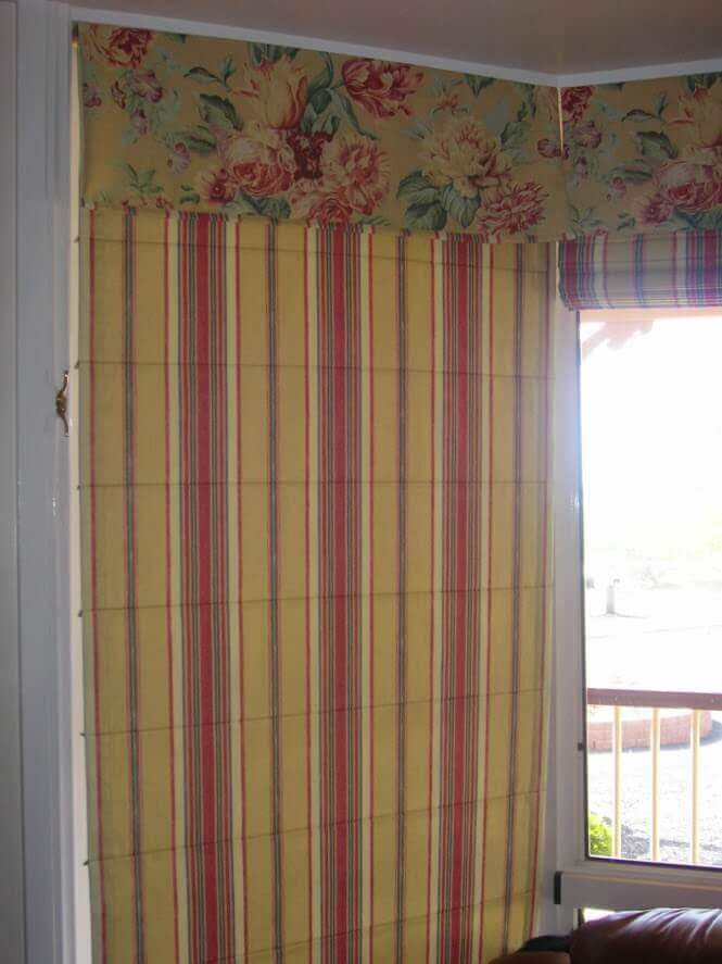 Roman Blind with coordinating attached Valance