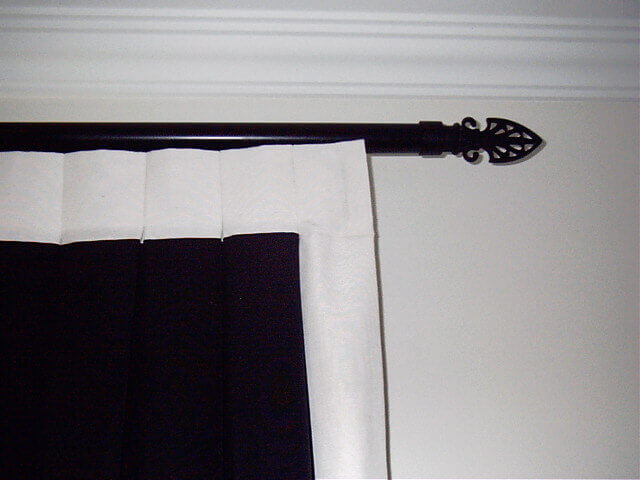 Curtain Poles Black