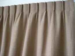 Single pinch pleat curtain